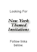 New York Theme Party Invitation
