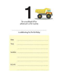 Birthday Party Invitation - One Year Old