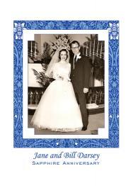 45th Wedding Anniversary Party Invitation