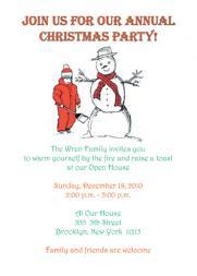 Christmas Party Invitation, CPIT-02