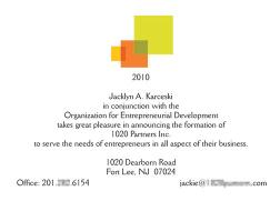New Business Announcement