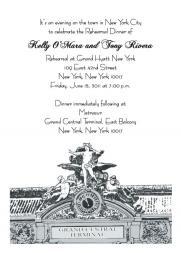 New York City Theme Party Invitation