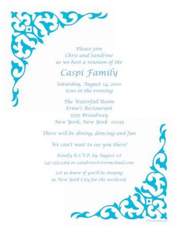 Family Reunion Template - FRT-07
