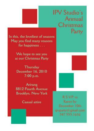 Christmas Party Invitation, CPIT-06