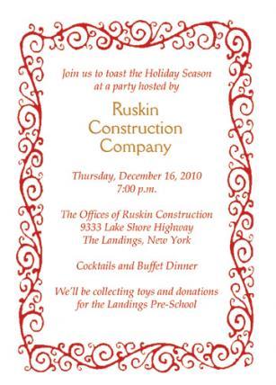 Christmas Party Invitation, CPIT-08