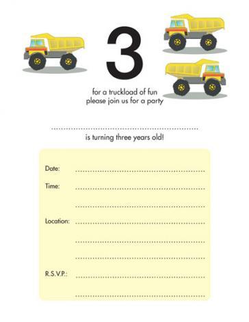 Children's Birthday Party Invitation - KBIF-13