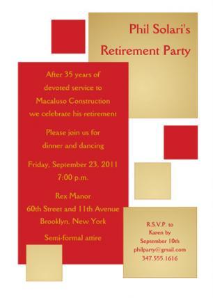 Retirement Party Invitation - RPIT-18_5x7