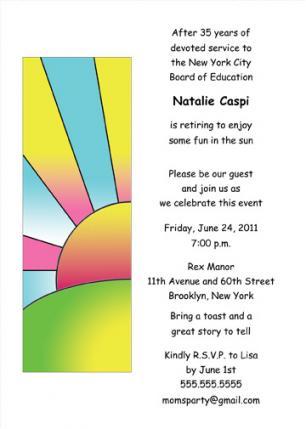Retirement Party Invitation - RPIT-19_5x7