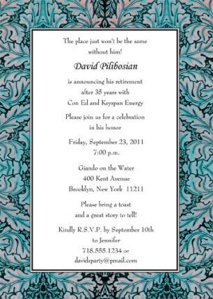 Retirement Party Invitation - RPIT-20_5x7