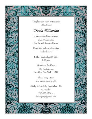 Retirement Party Invitation - RPIT-20
